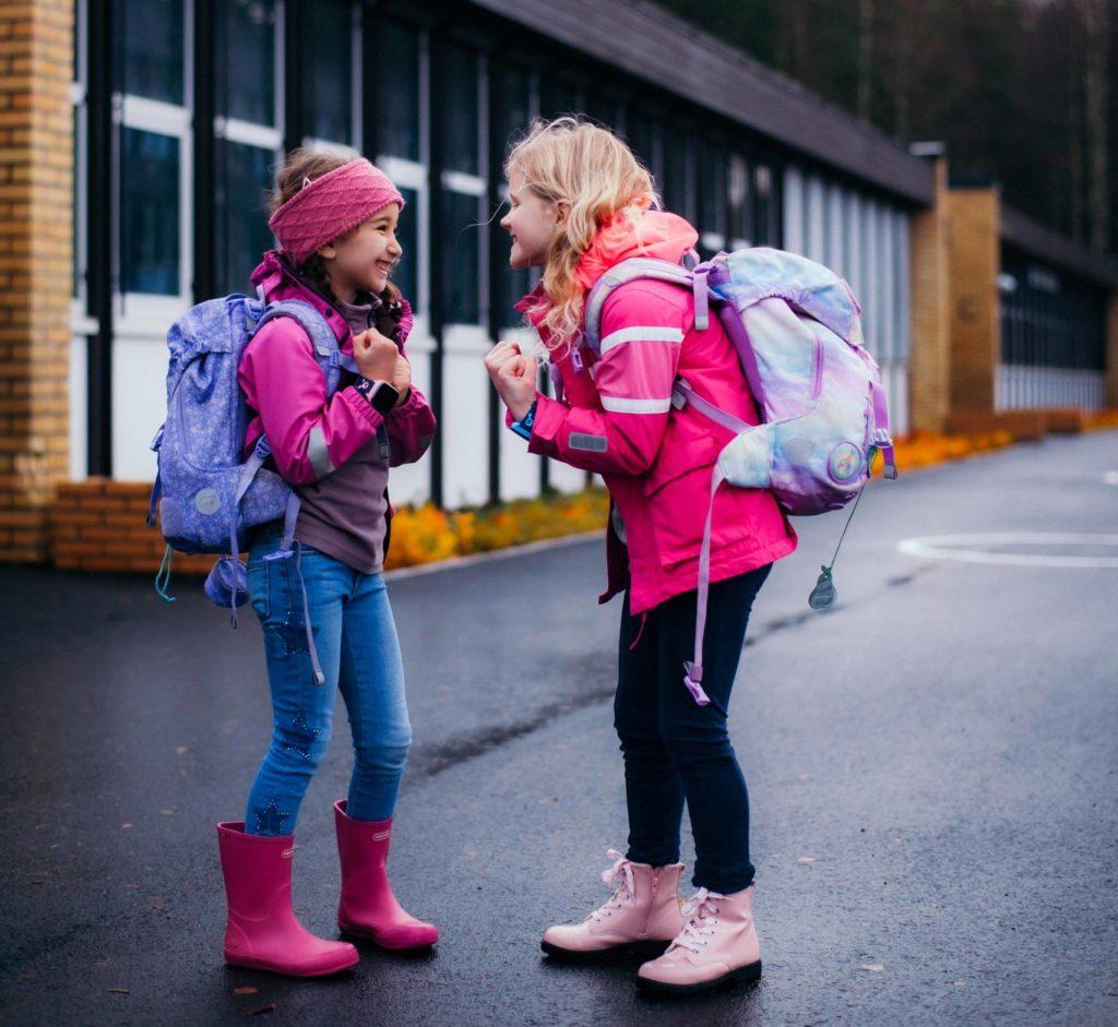 barn på skolen med skolemodus på xplora