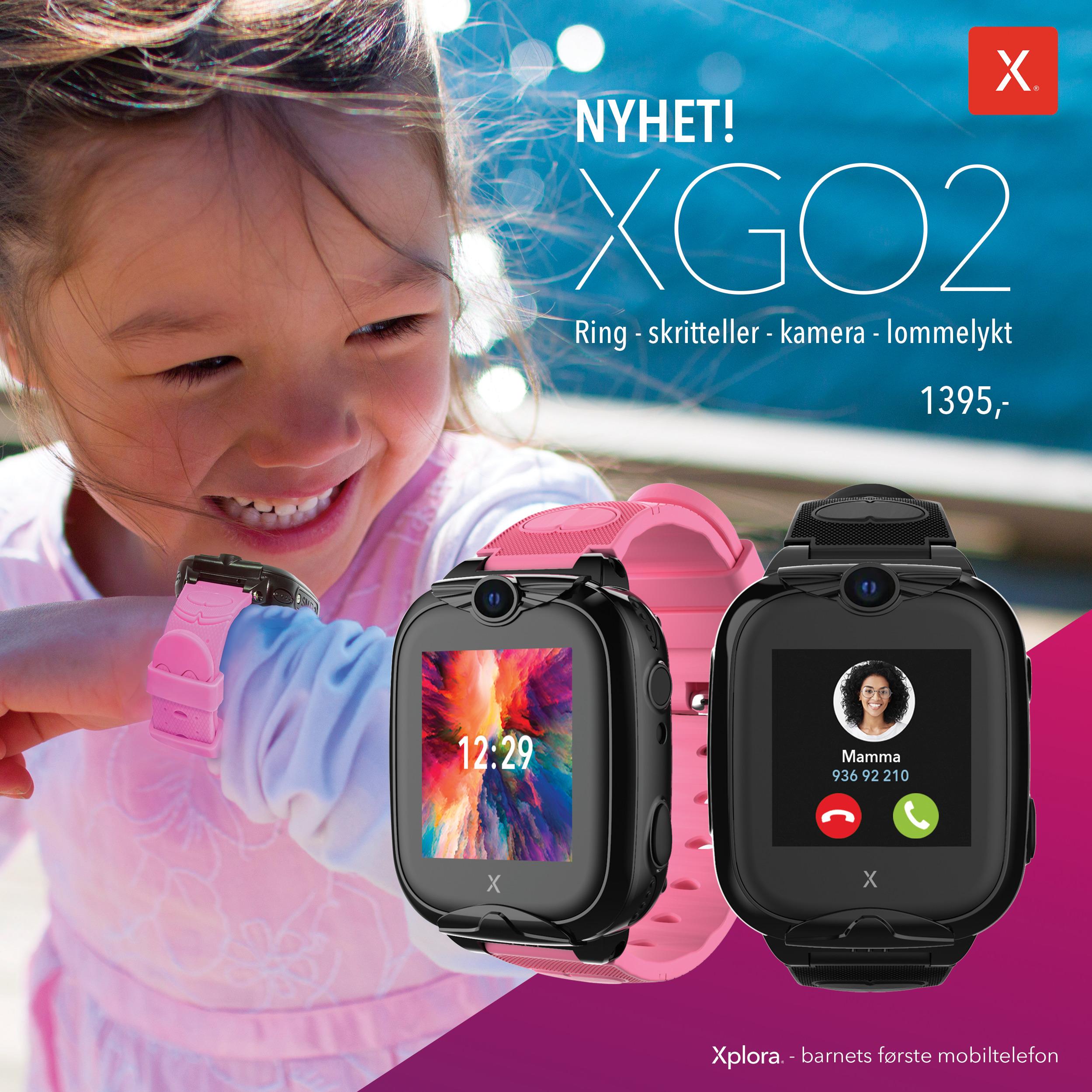 NYHET! Sjekk ut vår nye Xplora XGO2 smartklokke til barn!